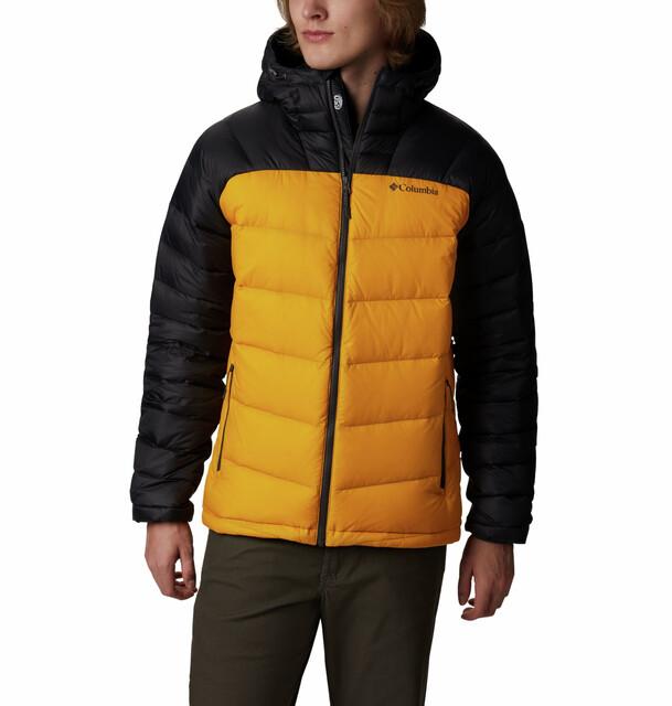Columbia Centennial Creek Jacket Yellowshark Down Hooded Golden Men 5jSc3ARq4L